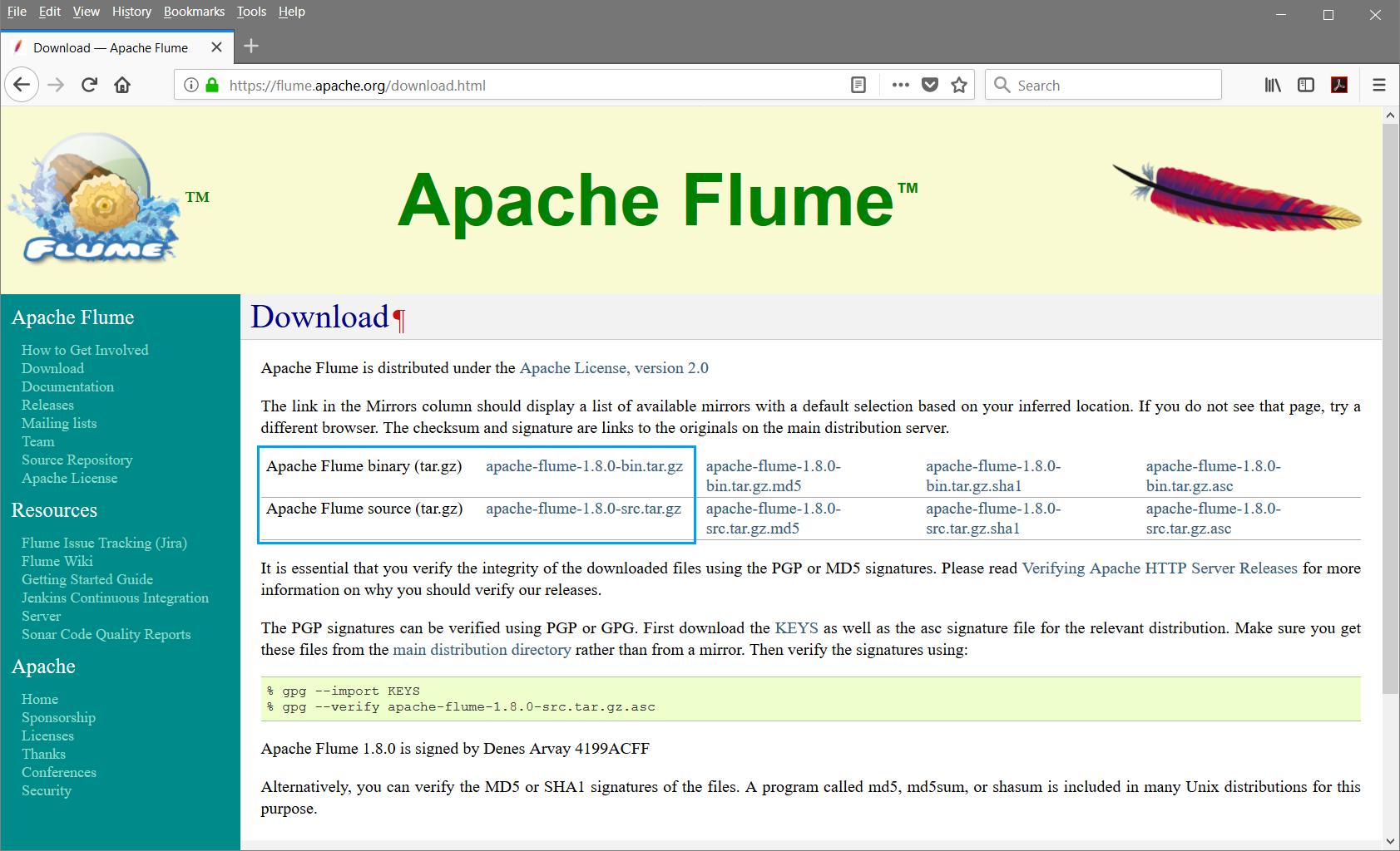 Apache Flume Environment Setup