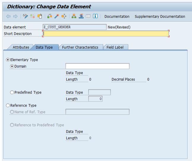 SAP ABAP Data Elements