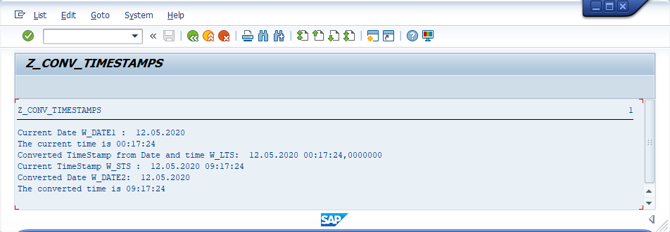 SAP ABAP Date and Time