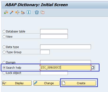 SAP ABAP Search help