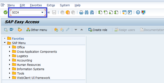 SAP BASIS Create Client