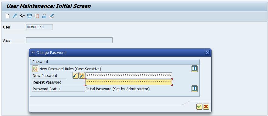 SAP BASIS Password Reset