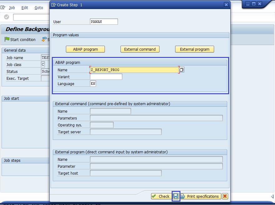 SAP BASIS Scheduling Background Job