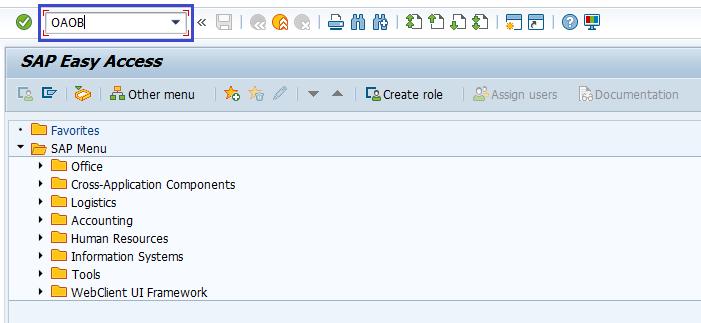 SAP FI Assign Chart of Depreciation to Company Code