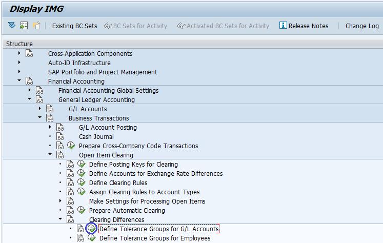 sap fi tolerance group for g l account rh tutorialscampus com SAP Implementation Methodology SAP IMG Guide