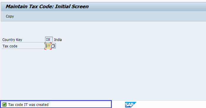 SAP FI Maintain Tax codes for Sales and Purchases