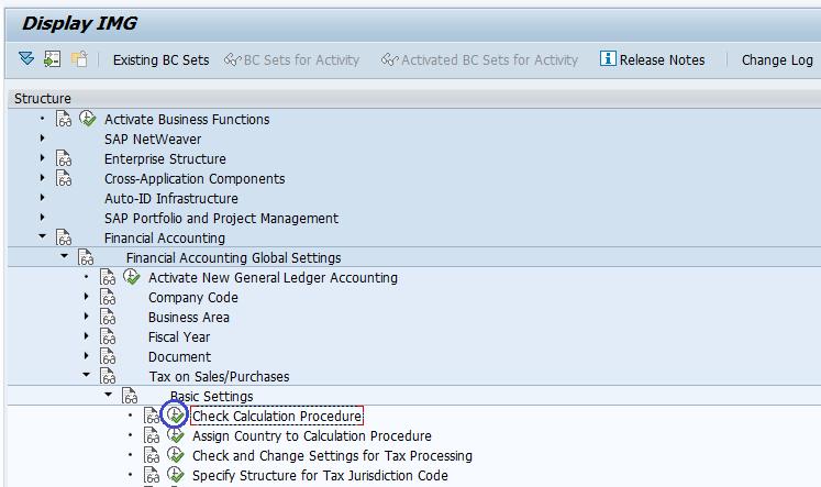 SAP FICO Check Calculation Procedure