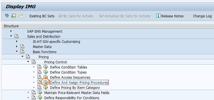 SAP SD Define pricing procedure determination