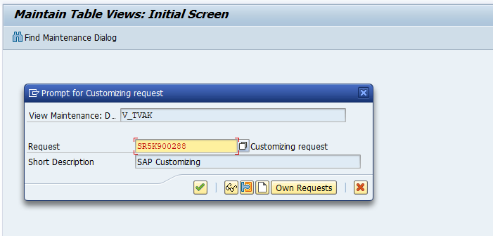 SAP SD Create Sales Document Type